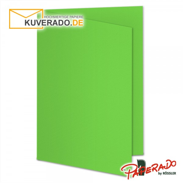 Paperado Faltarten in apfelgrün DIN B6 Hochformat