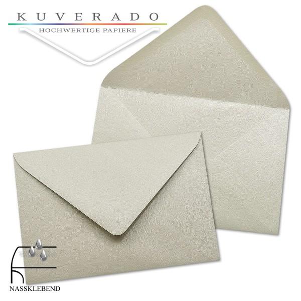 glänzende metallic Briefumschläge in platin silber im Format 120 x 180 mm