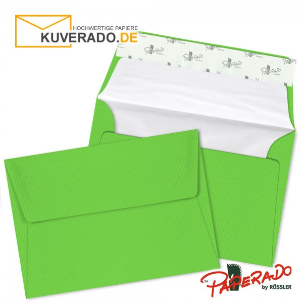 Paperado Briefumschläge apfelgrün DIN B6 haftklebend