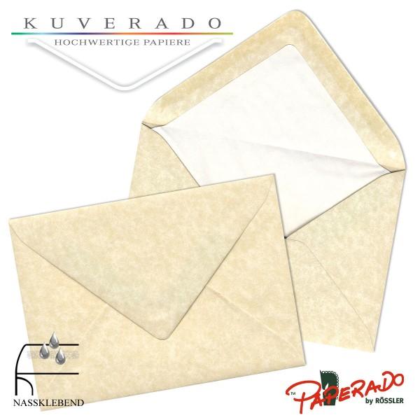 Paperado marmorierte Briefumschläge in vellum beige DIN C6