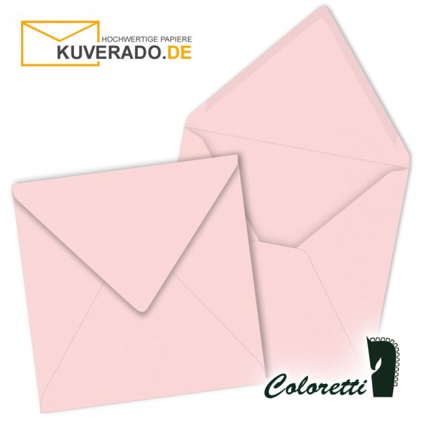 Rosa Briefumschläge in quadratisch von Coloretti
