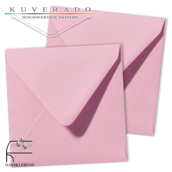 Rosa Briefumschläge (dunkelrosa) im Format quadratisch 120x120 mm