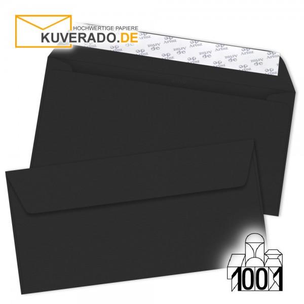 Artoz Briefumschläge schwarz DIN lang