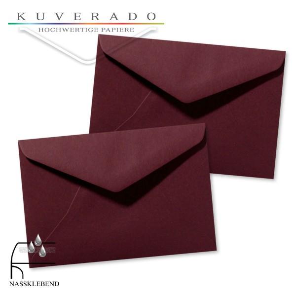 rote Briefumschläge (dunkelrot) im Format 120 x 180 mm