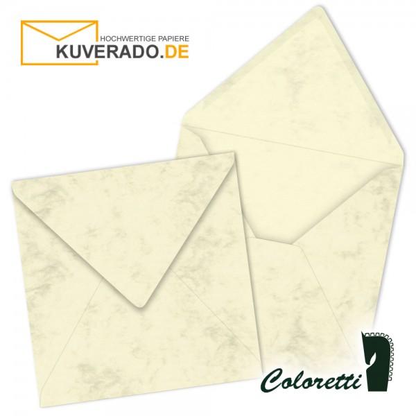 Beige marmorierte Briefumschläge in chamois quadratisch von Coloretti