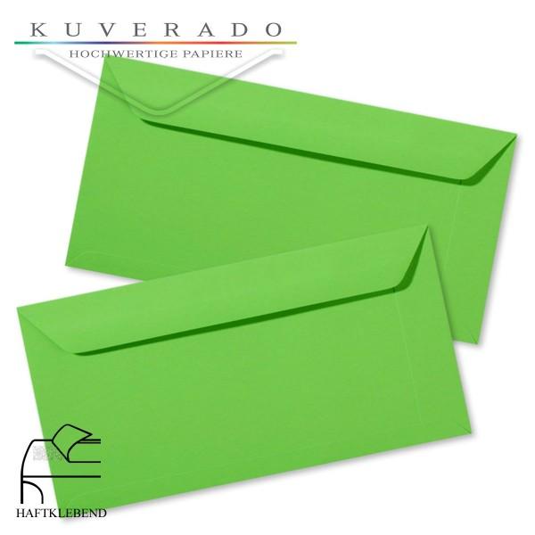 grüne Briefumschläge im Format DIN lang