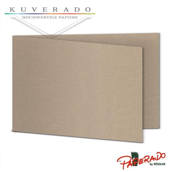 Paperado Karten in taupe grau metallic DIN B6 Querformat