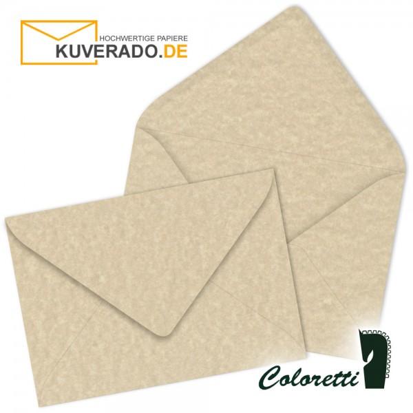 Beige marmorierte DIN C6 Briefumschläge in saharabraun von Coloretti
