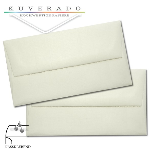 Briefumschläge aus Büttenpapier im Sonderformat 119x220 mm