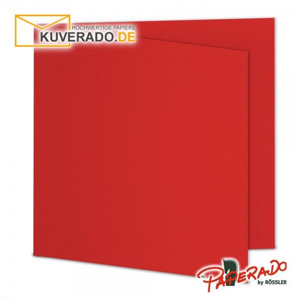 Paperado Karten in tomate rot quadratisch