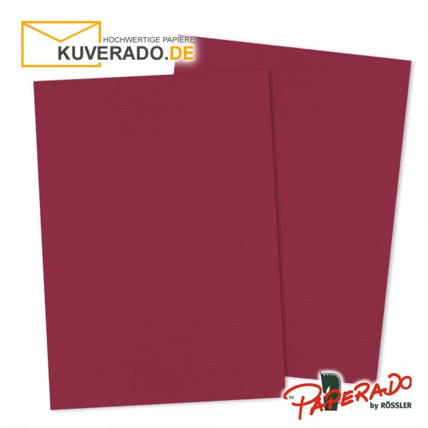 Paperado Briefpapier in rosso rot DIN A4 160 g/qm