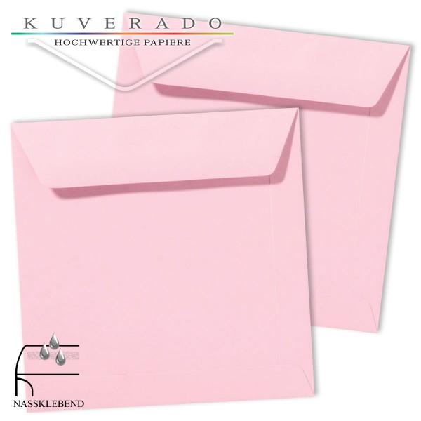 Rosa Briefumschläge (hellrosa) im Format quadratisch 220x220 mm