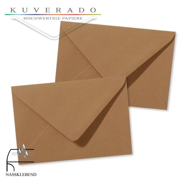 braune Briefumschläge im Format 120 x 180 mm