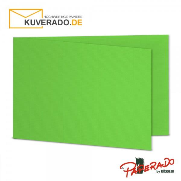 Paperado Faltkarten in apfelgrün DIN B6 Querformat