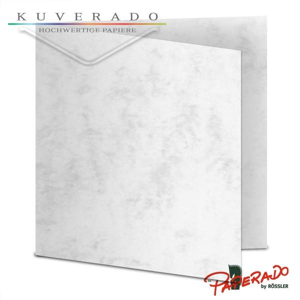 Paperado Karten in grau marmoriert quadratisch