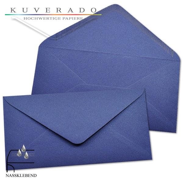 glänzende metallic Briefumschläge in blau im Format DIN lang