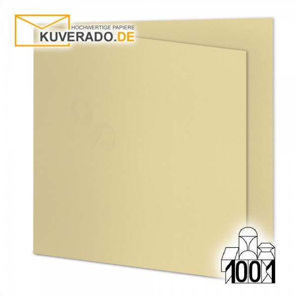 Artoz 1001 Faltkarten baileys beige quadratisch 155x155 mm mit Wasserzeichen