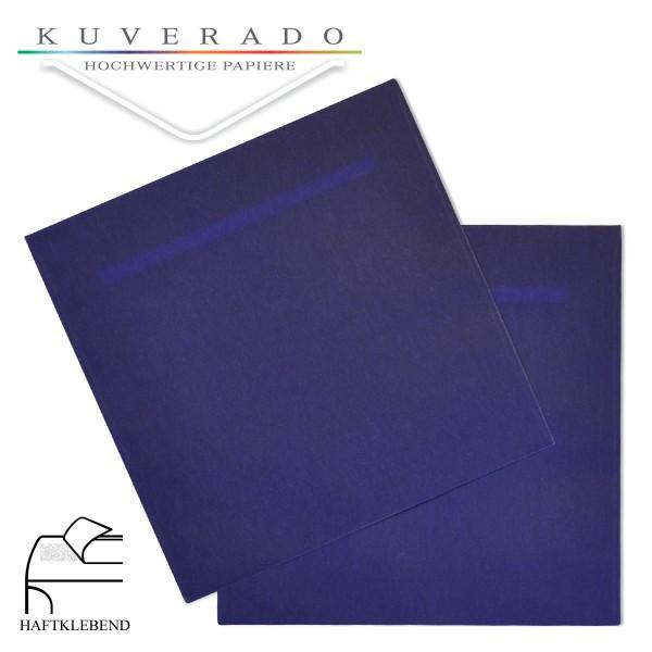 transparente Versandtaschen in dunkelblau quadratisch
