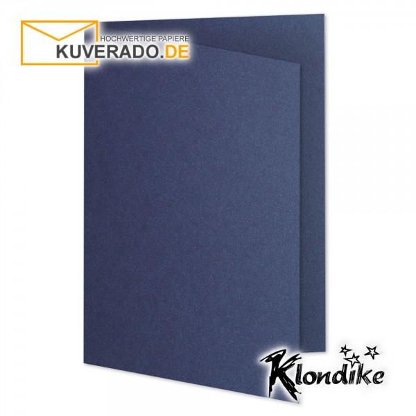 Artoz Klondike Karten in saphir-blau-metallic DIN B6