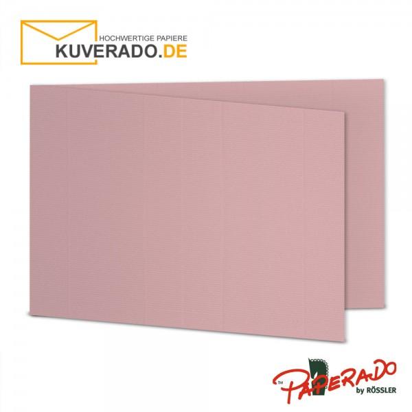 Paperado Karten in rose / rosa DIN B6 Querformat