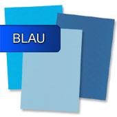 blaues Briefpapier
