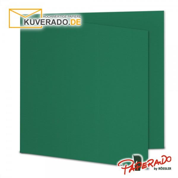 Paperado Karten in tannengrün quadratisch