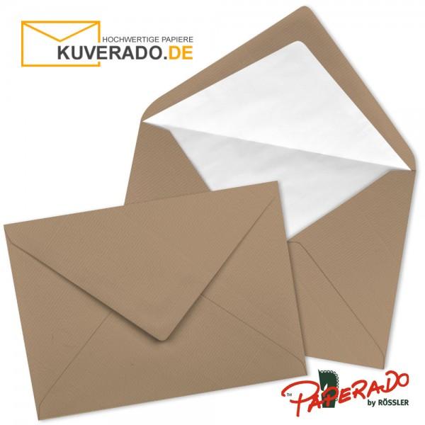 Paperado Briefumschläge in haselnuss braun DIN B6