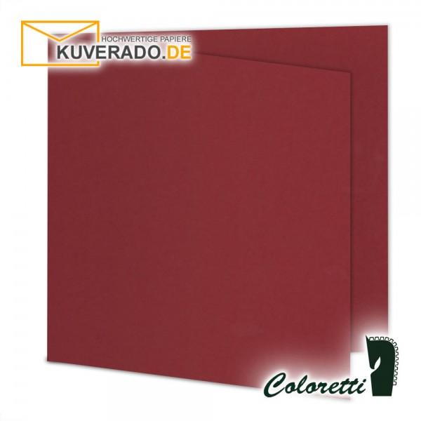 Rote Doppelkarten in rosso quadratisch 220 g/qm von Coloretti