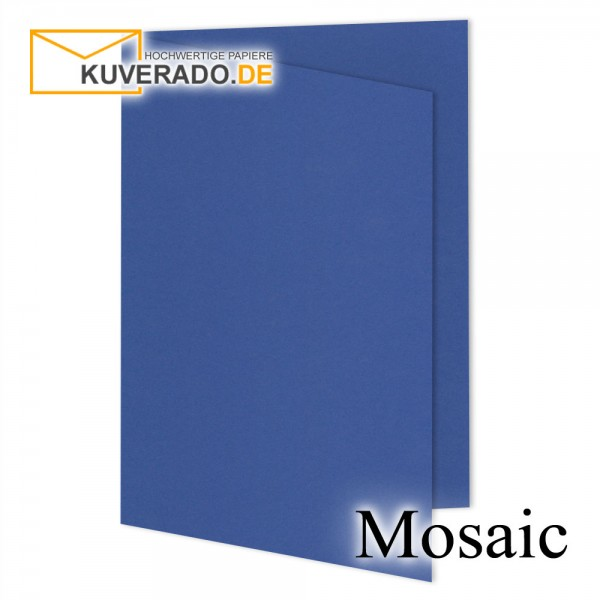 Artoz Mosaic marineblaue Doppelkarten DIN B6