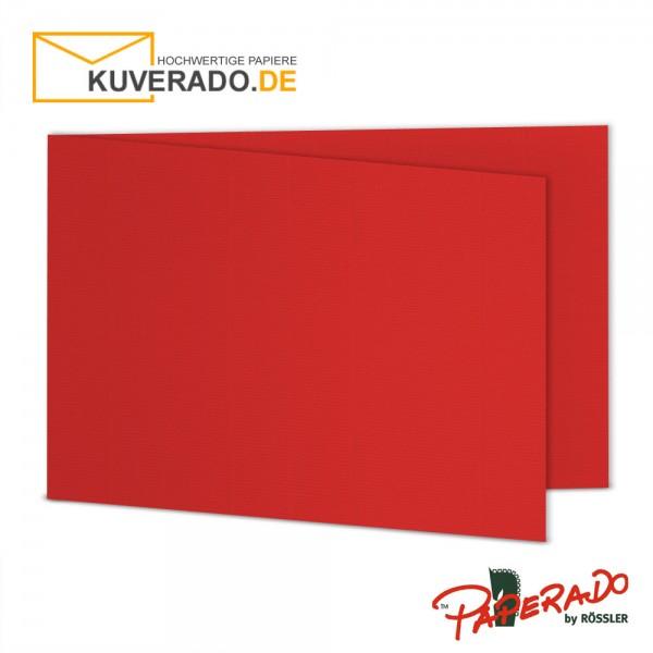 Paperado Karten in tomate rot DIN B6 Querformat