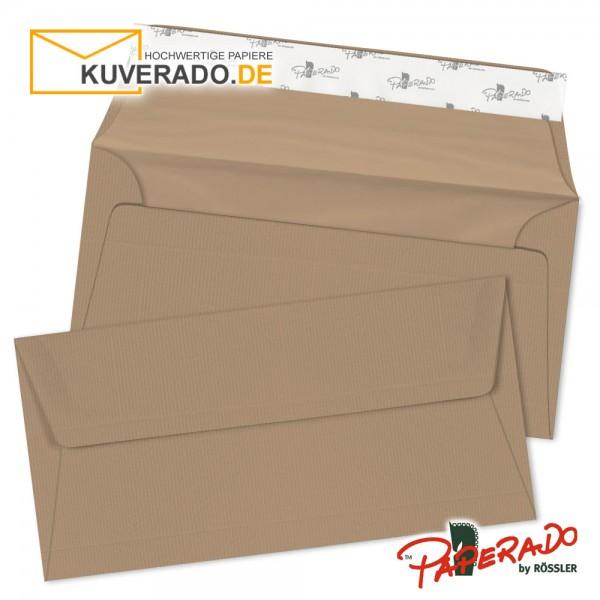 Paperado Briefumschläge haselnuss braun DIN lang