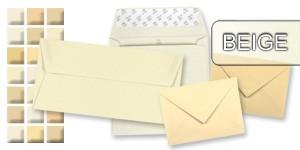 Beige Briefumschläge