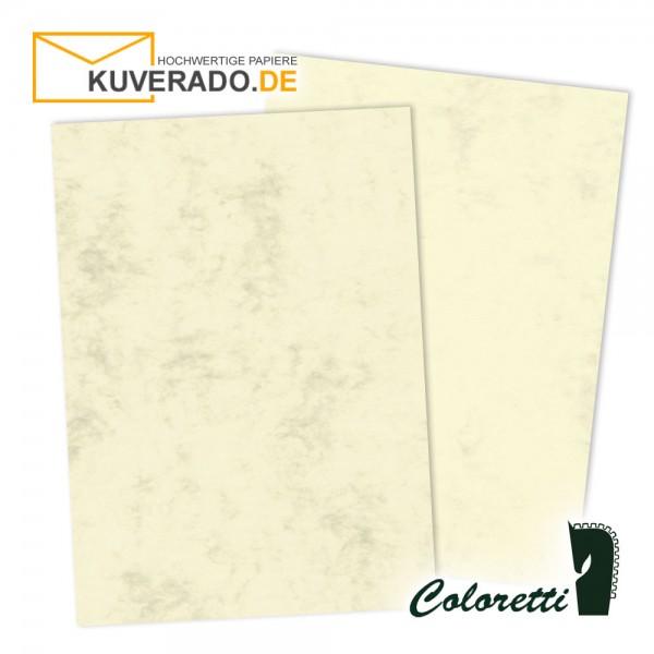 Beige marmoriertes Briefpapier in chamois 165 g/qm von Coloretti