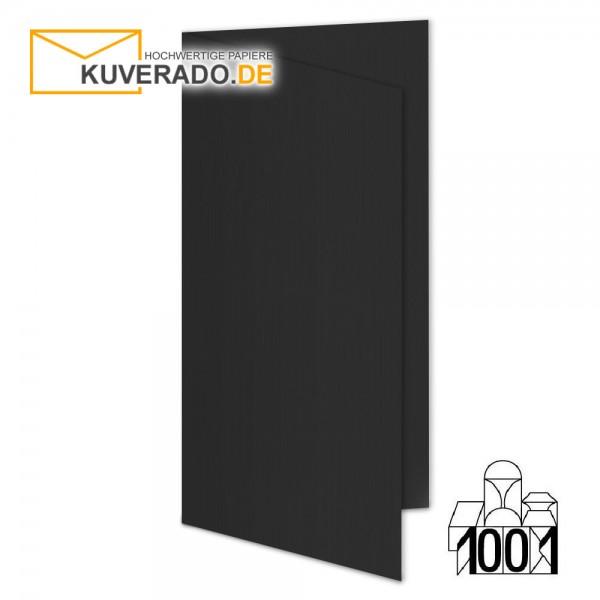 Artoz 1001 Faltkarten schwarz DIN lang Hochformat mit Wasserzeichen