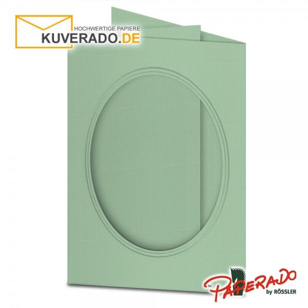 Paperado Passepartoutkarten mit ovalem Ausschnitt in mint DIN B6