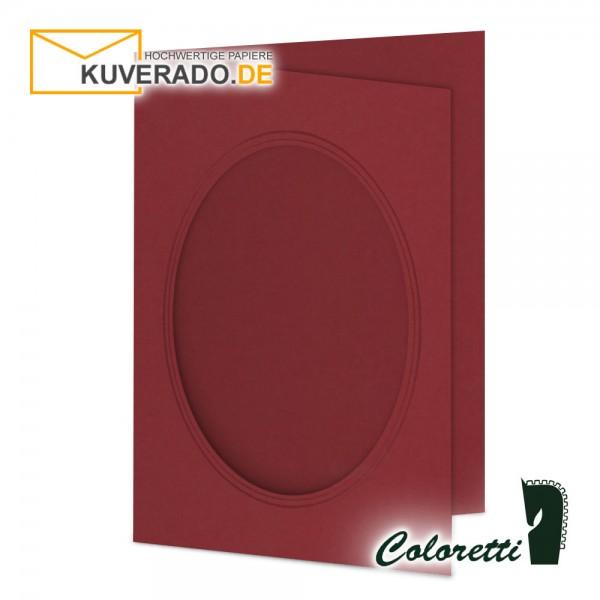 Rote Passepartoutkarten in rosso 220 g/qm von Coloretti