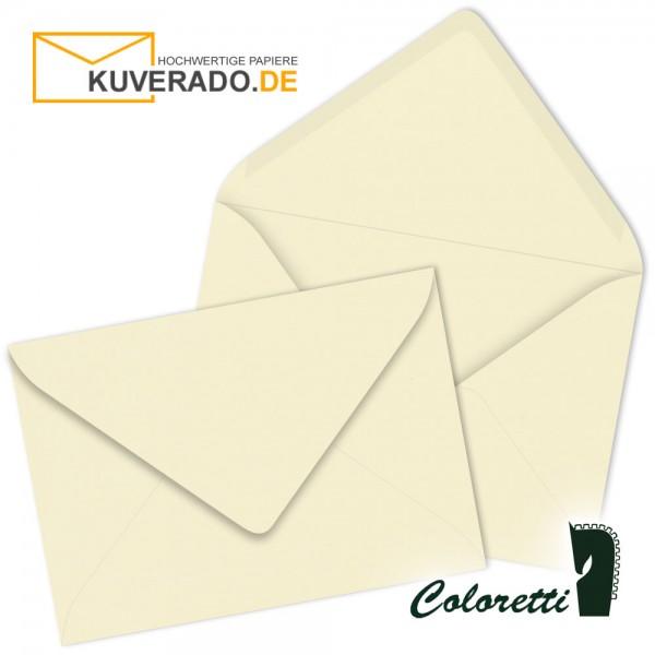 Beige DIN B6 Briefumschläge in creme von Coloretti