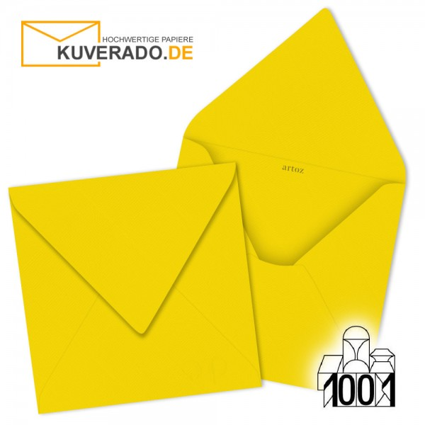 Artoz 1001 Briefumschläge sonnengelb quadratisch 135x135 mm