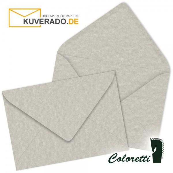 Grau marmorierte DIN B6 Briefumschläge in wolkengrau von Coloretti