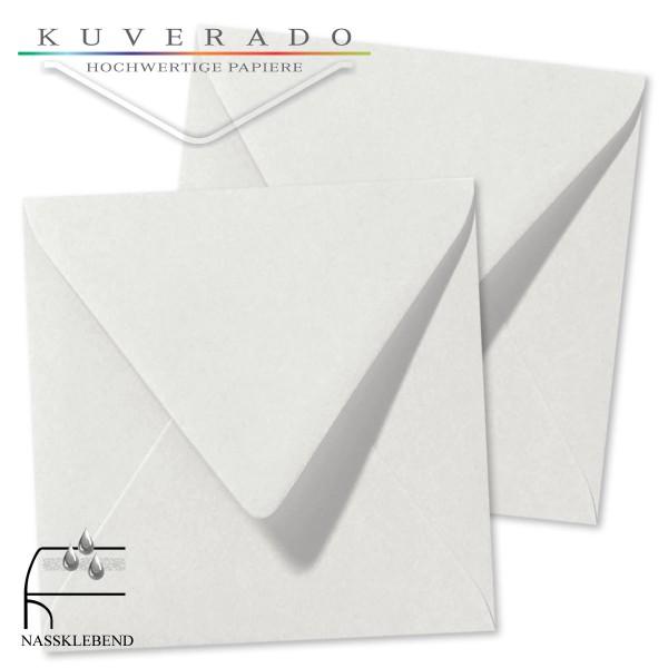 Graue Briefumschläge (Silbergrau) im Format quadratisch 160x160 mm