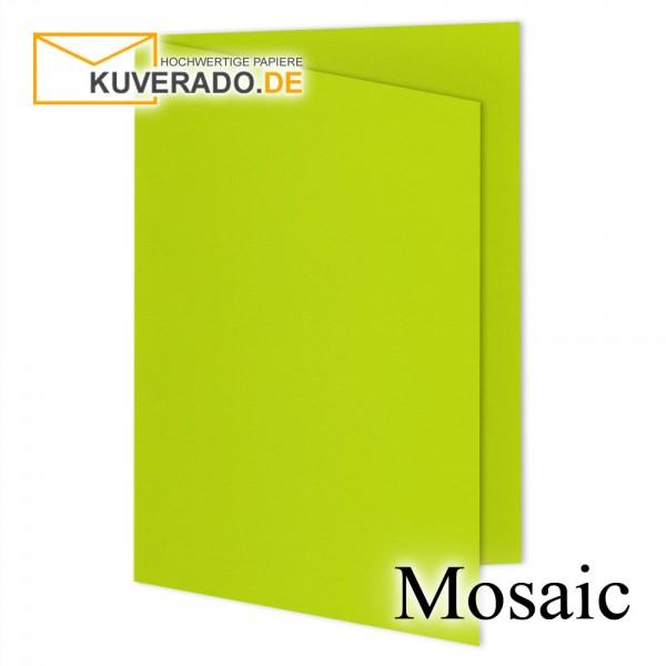 Artoz Mosaic neon-lime Doppelkarten DIN A5