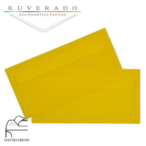 transparente Briefumschläge DIN lang in gelb