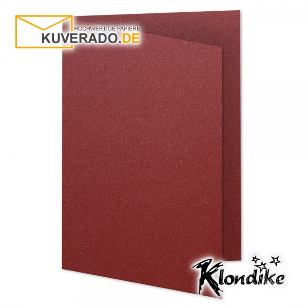 Artoz Klondike Karten in rubin-rot-metallic DIN E6