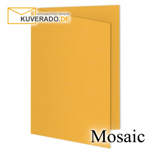 Artoz Mosaic papaya-orange Doppelkarten DIN A6