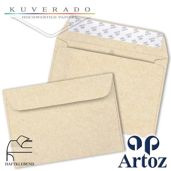 Artoz Rustik marmorierte Briefumschläge weiß DIN C6