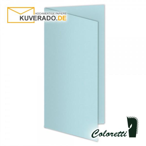 Blaue Doppelkarten in himmelblau 220 g/qm von Coloretti