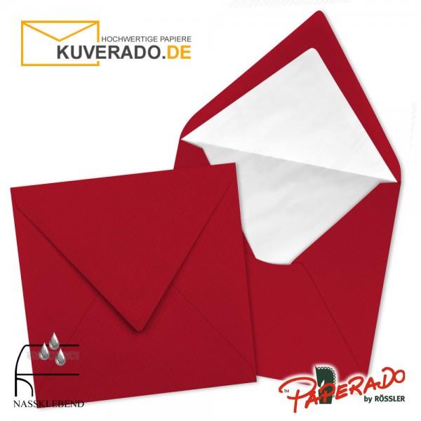 Paperado quadratische Briefumschläge in rot 164x164 mm