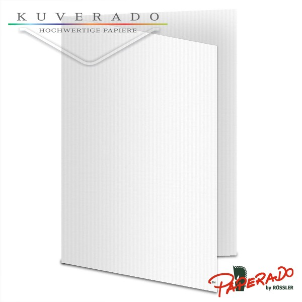Paperado Karten in classic-rib weiß DIN A6