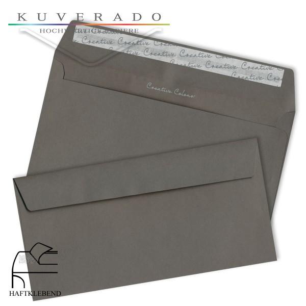 dunkelgraue Briefumschläge DIN C6/5