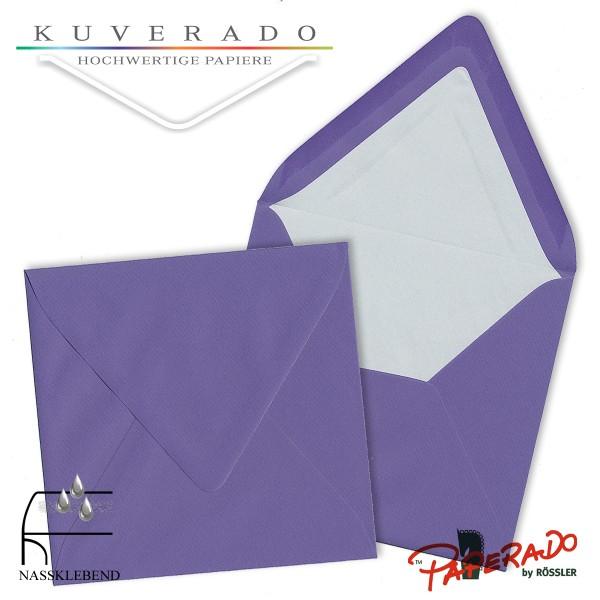 Paperado quadratische Briefumschläge in lila 164x164 mm